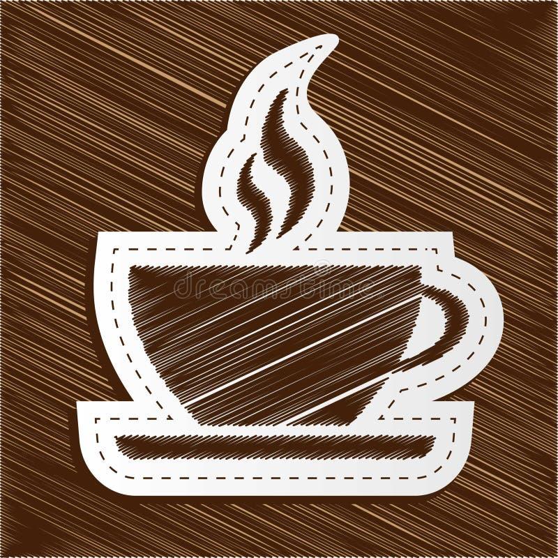 Kaffe kuper royaltyfri illustrationer