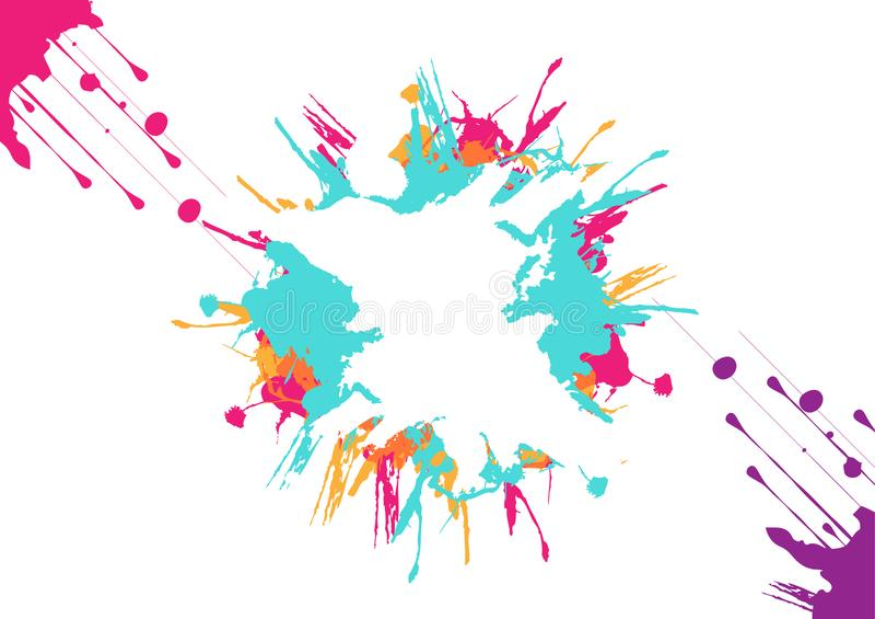 Vektorn plaskar färgrik bakgrundsdesign Illustrationvektordesign vektor illustrationer