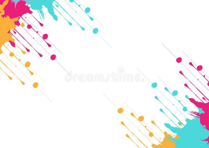 Vektorn plaskar f?rgrik bakgrundsdesign Illustrationvektordesign royaltyfri illustrationer