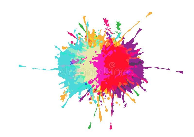 Vektorn plaskar f?rgrik bakgrundsdesign Illustrationvektordesign vektor illustrationer