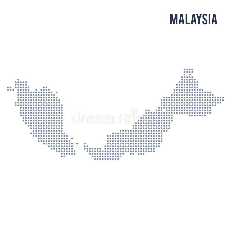 Vektorn prack översikten av Malaysia isolerade på vit bakgrund vektor illustrationer