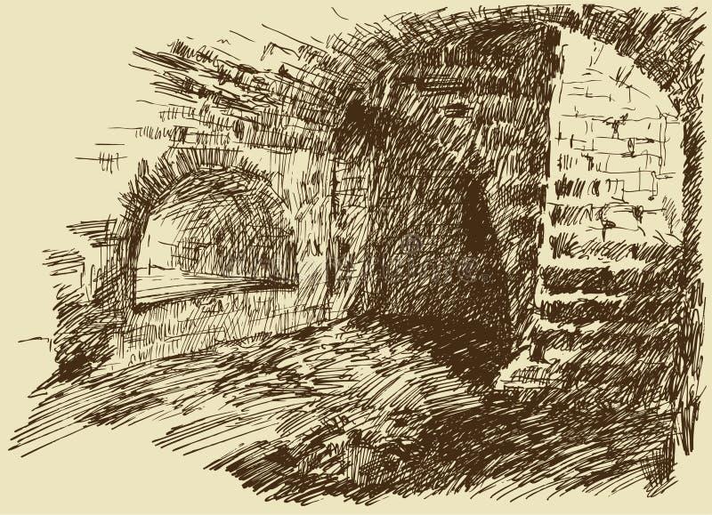 Dungeon vektor illustrationer