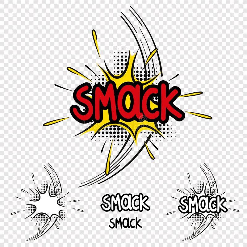 Vektorn smiskar komisk illustrationeffekt royaltyfri illustrationer
