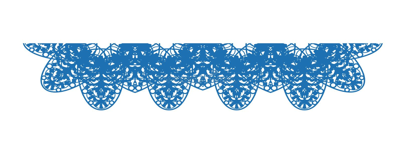Vektorn snör åt - bordduken i blåttfärg royaltyfri illustrationer