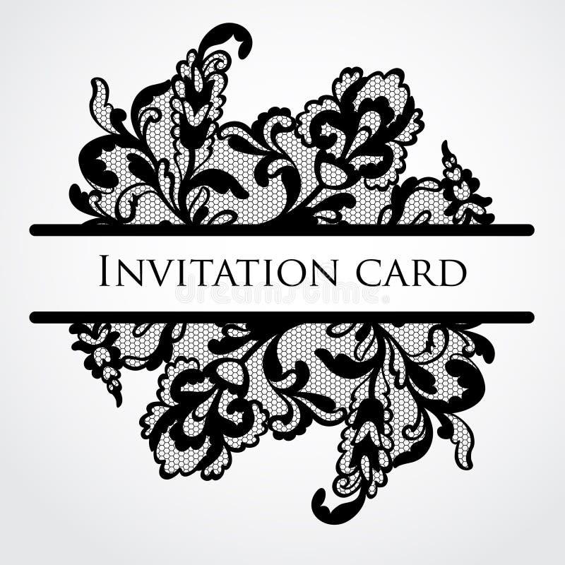 Vektorn snör åt kortet royaltyfri illustrationer