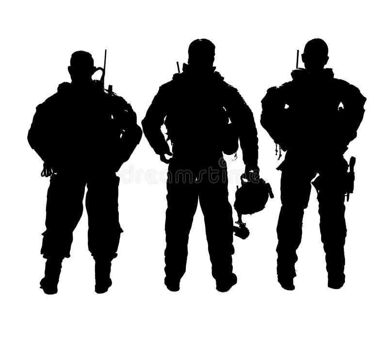 Vektorn tjäna som soldat monokrom