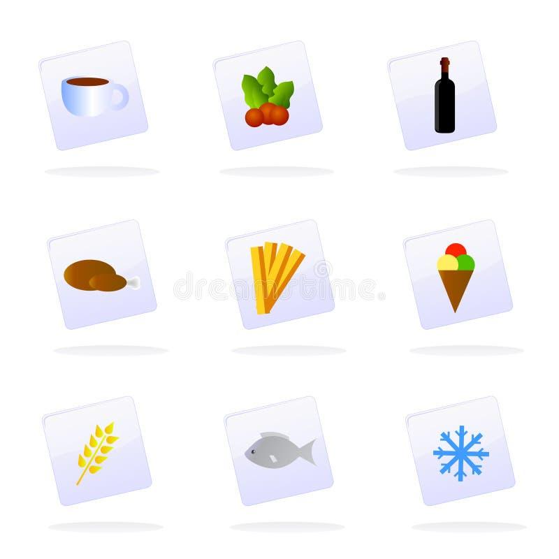 Vektornahrungsmittelikonen lizenzfreie abbildung