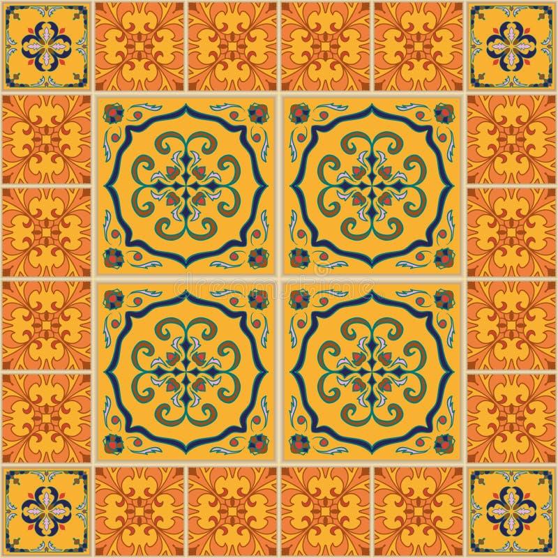 Vektornahtlose Beschaffenheit Schönes farbiges Muster für Design und Mode mit dekorativen Elementen vektor abbildung