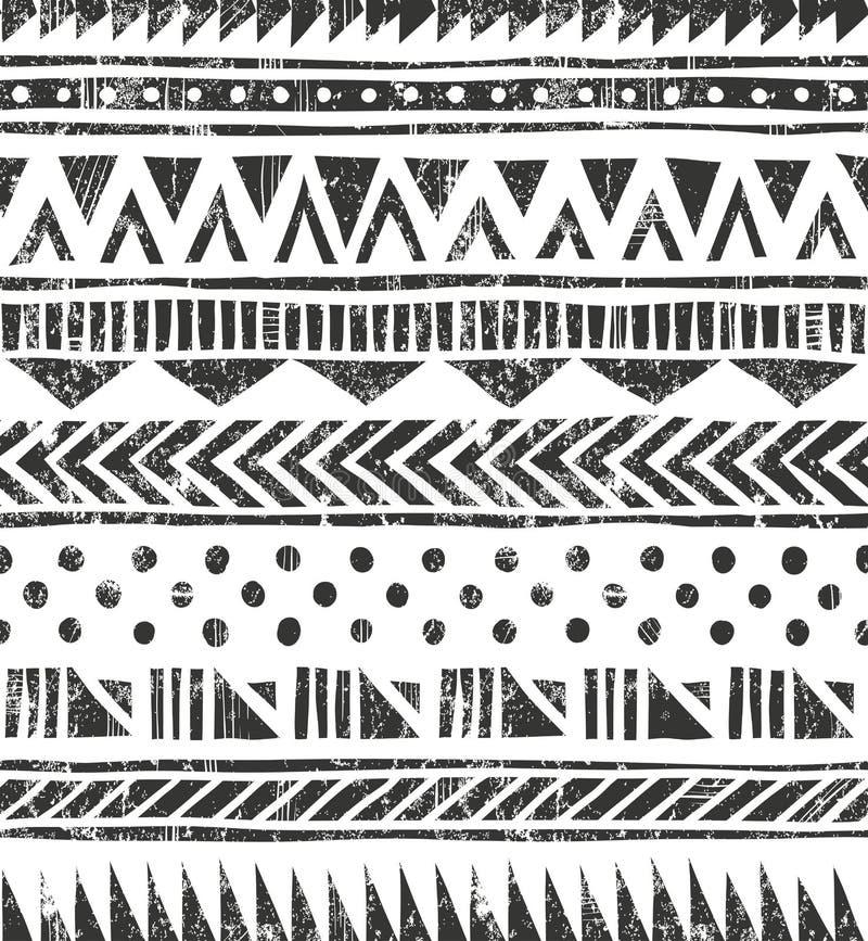 Vektornahtlose Stammes- Beschaffenheit lizenzfreie abbildung
