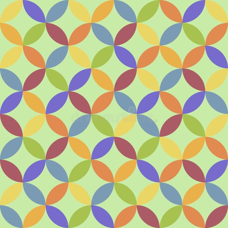 Vektornahtloser Hintergrund abstrakter Hintergrund Wiederholen von GE lizenzfreie abbildung
