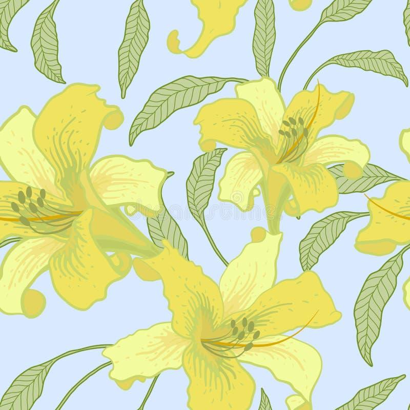 Vektornahtloser mit Blumenhintergrund. vektor abbildung