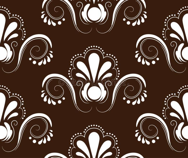 Vektornahtloser Musterhintergrund Elegante Luxusbeschaffenheit vektor abbildung
