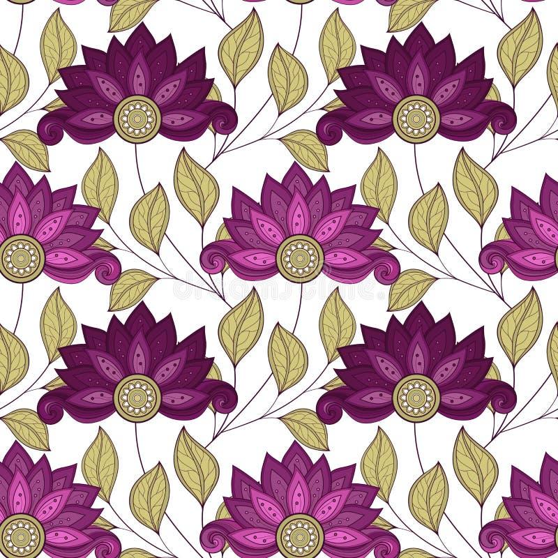 Vektornahtloses Blumenmuster stock abbildung