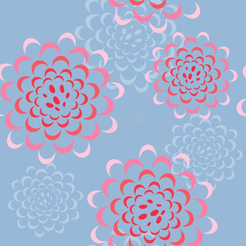 Vektornahtloses Blumenmuster vektor abbildung