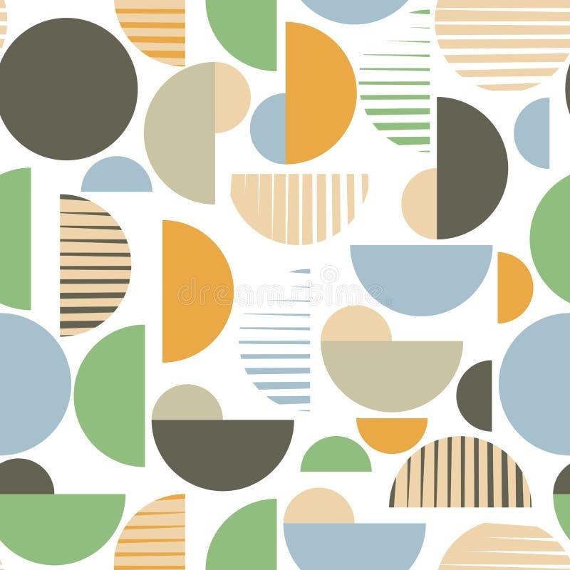 Vektornahtloses geometrisches Muster lizenzfreie abbildung