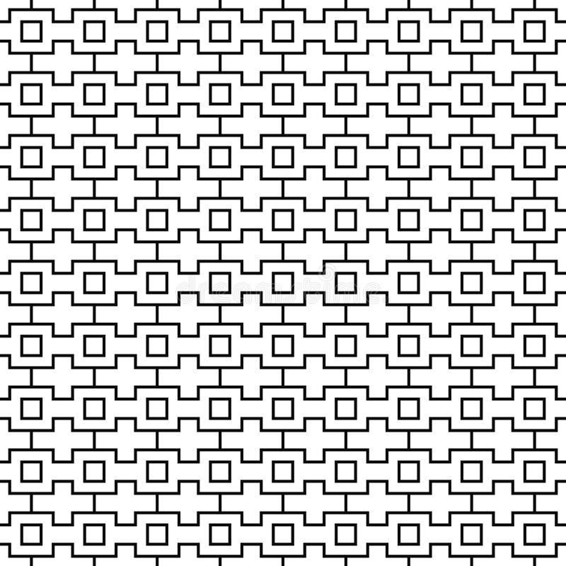 Vektornahtloses geometrisches Muster Zeile Beschaffenheit Schwarzweiss-Hintergrund Einfarbiges Design vektor abbildung