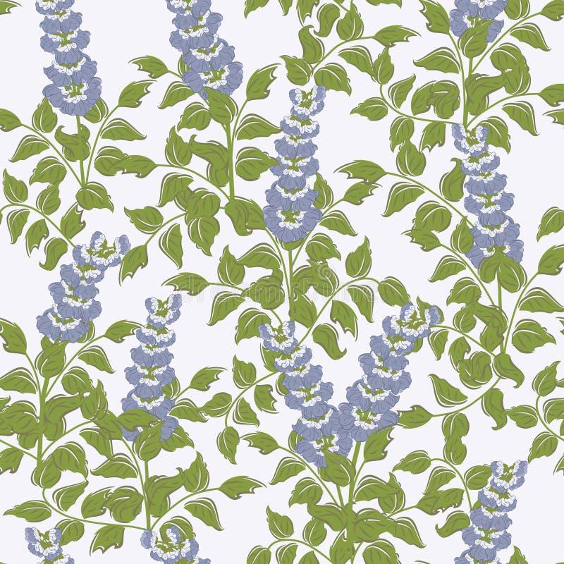 Vektornahtloses Muster mit Bluebells stock abbildung