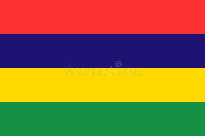 Vektornationsflagga av Mauritius stock illustrationer