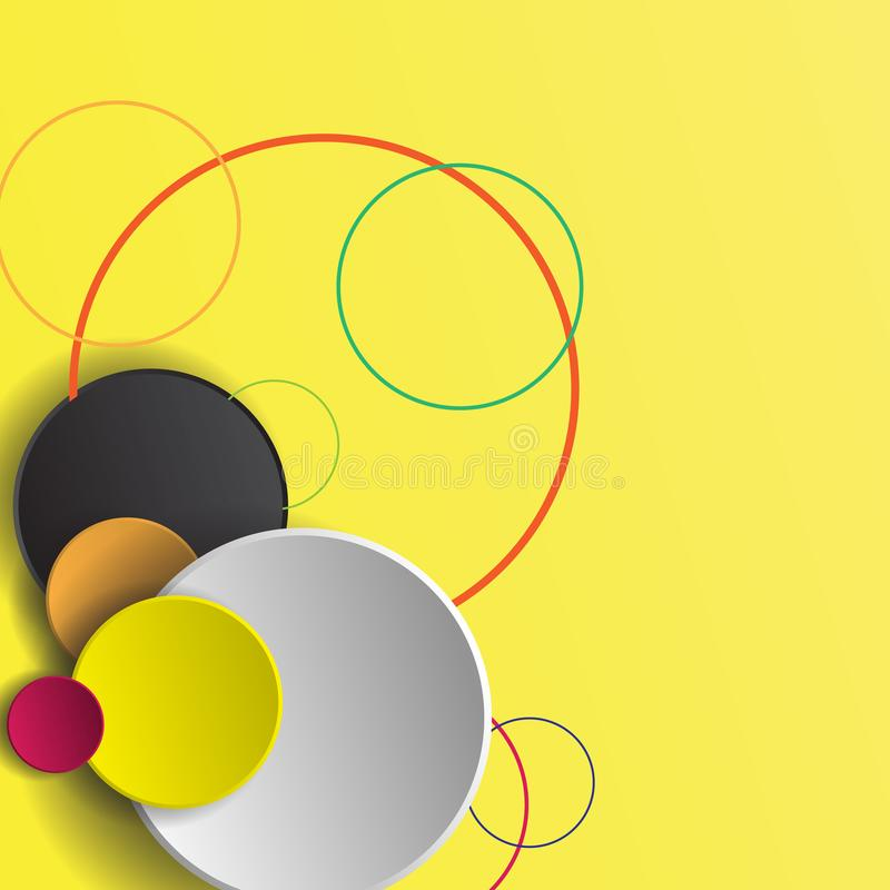 Vektorny kleurrijke achtergrond met plaats voor uw tekst Vector IL royalty-vrije stock foto