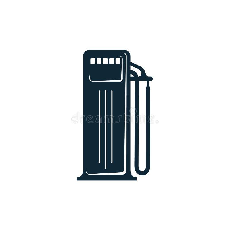 Vektorolja som tankar den enkla plana symbolen för station stock illustrationer