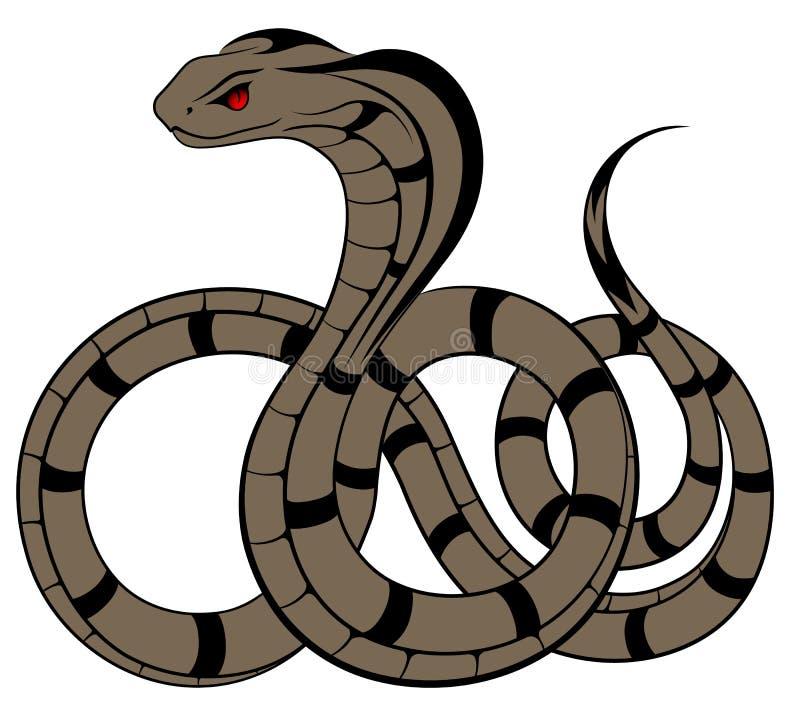 Vektororm, kobra stock illustrationer