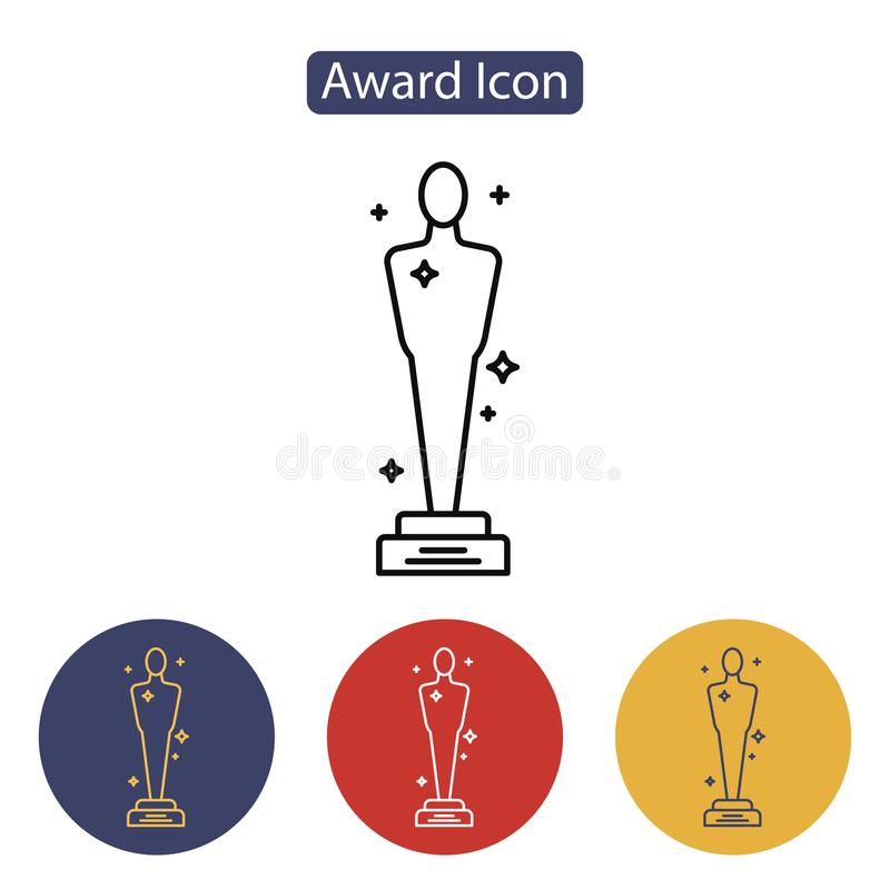 VektorOscarsymbol royaltyfri illustrationer