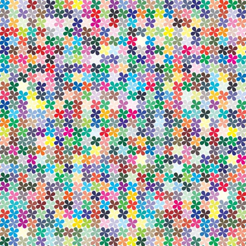 Vektorpalette 484 verschiedene Farben chaotisch zerstreut in eine Form des vierblättrigen Kleeblattes vektor abbildung