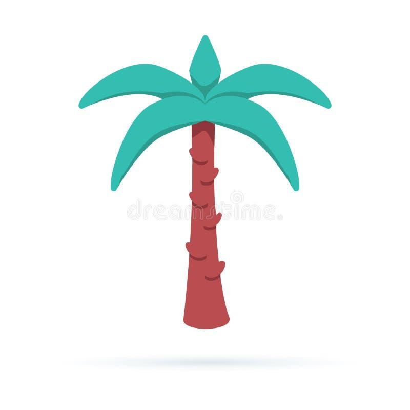 Vektorpalmträdillustration lätt redigera symbolen för att löpa Växtnatur royaltyfri illustrationer