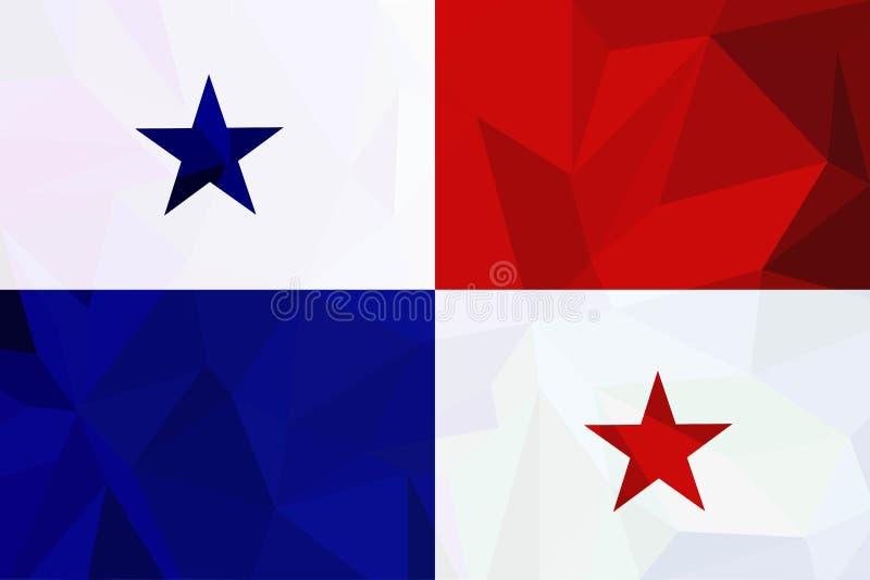 VektorPanama flagga, Panama flaggaillustration, Panama flaggabild, bild för Panama flaggavektor stock illustrationer