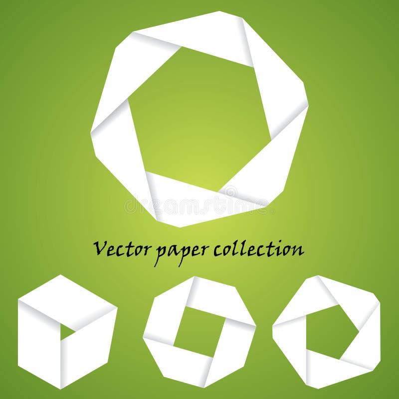 Vektorpapieransammlung lizenzfreies stockbild