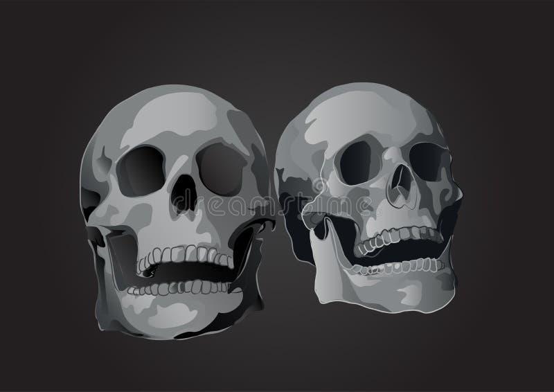 Vektorpar av den sculls isolerade lutningen för illustration 3d vektor illustrationer