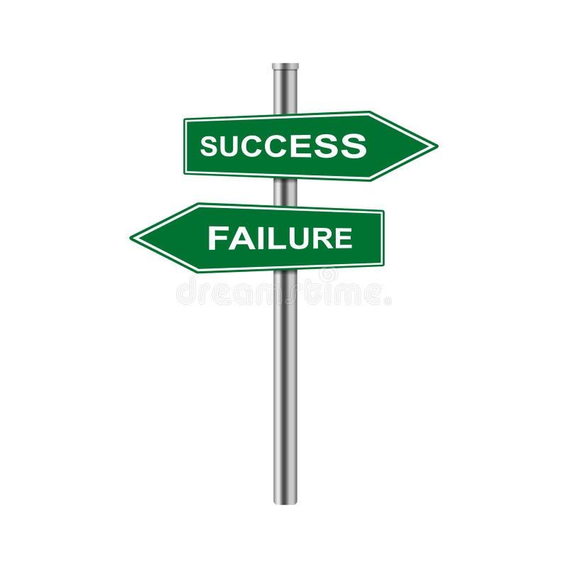 Vektorpfeile auf Lager unterzeichnen Erfolg und Ausfall lizenzfreie abbildung