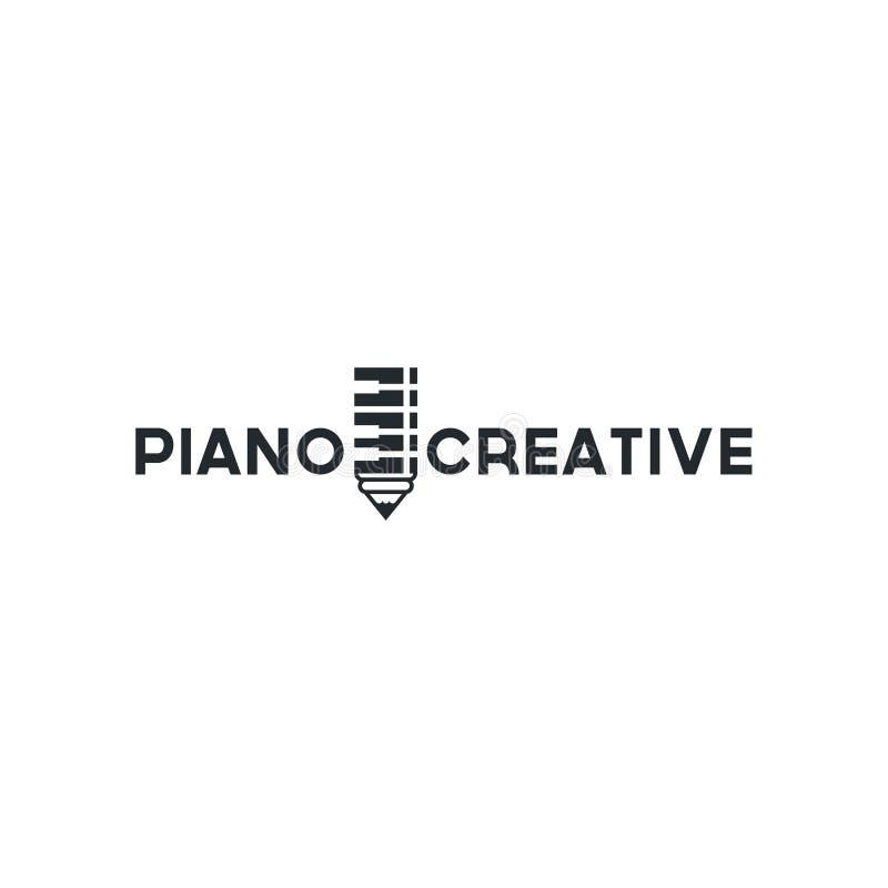 Vektorpianot shoppar Musiksymbol för ljudsignal inspiration för lagerlogodesign vektor illustrationer