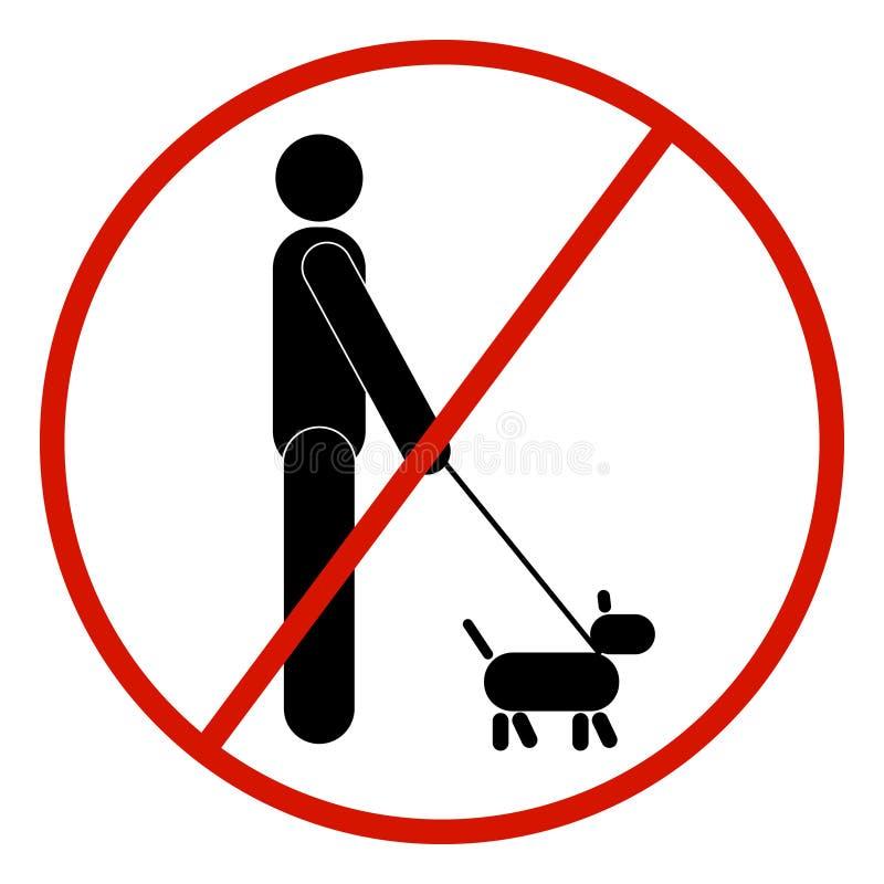 Vektorpinnediagram man, svartvitt, förbjudet som förbjudas royaltyfri illustrationer