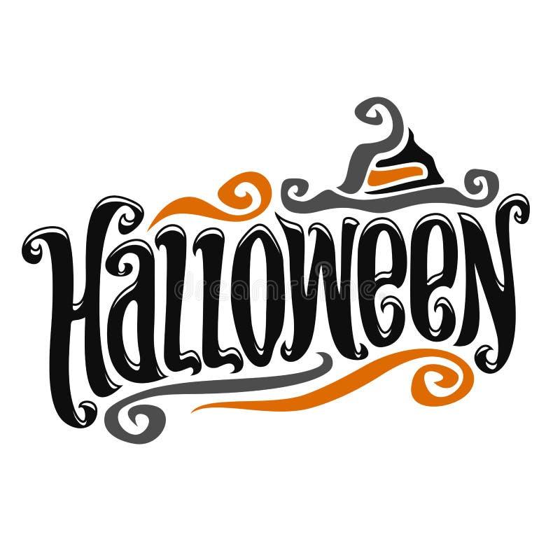 Vektorplakat für Halloween stock abbildung