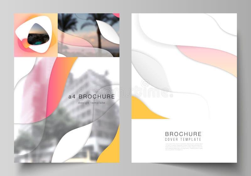 Vektorplan von modernen Abdeckungsmodellen des Formats A4 entwerfen Schablonen f?r Brosch?re, Zeitschrift, Flieger, Brosch?re, Be lizenzfreie abbildung