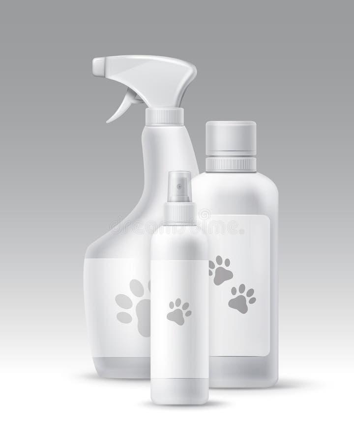 Vektorplast-flaskor royaltyfri illustrationer
