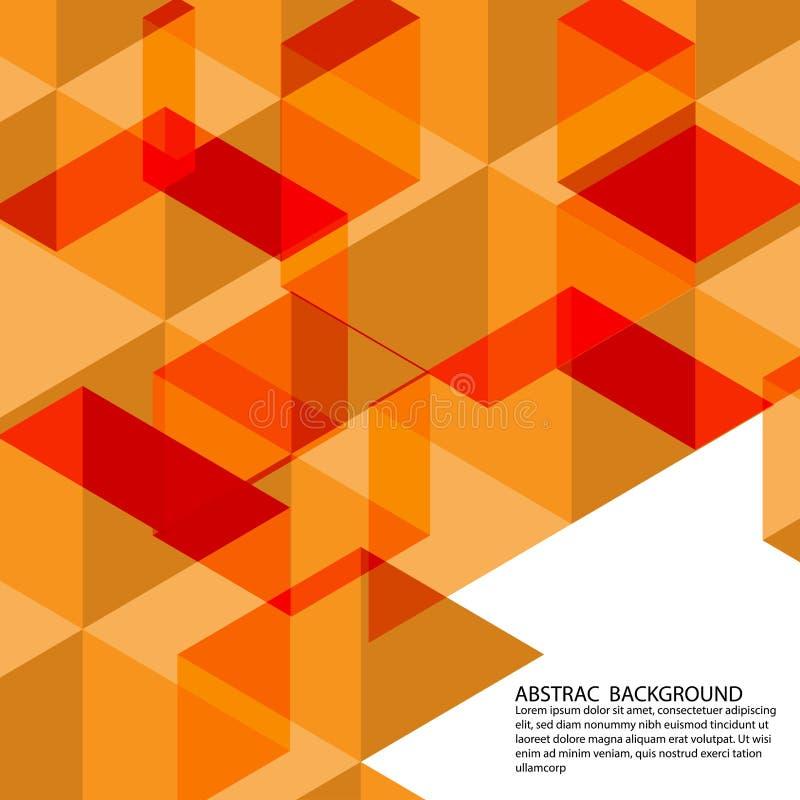 Vektorpolygon-Orangenhintergrund stockfoto