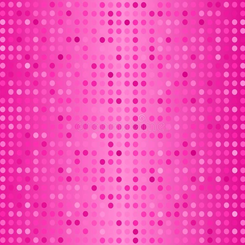 Vektorprickar på rosa bakgrund Rastrerad textur royaltyfri illustrationer