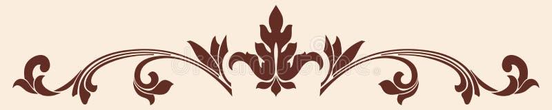 Vektorprydnad i den gamla gotiska stilen till designen stock illustrationer