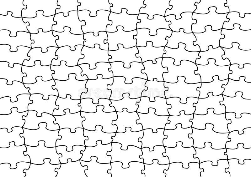Vektorpuzzlespiel stock abbildung