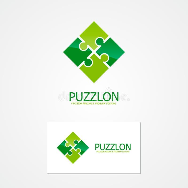 Vektorpuzzlespiel-Designlogo stock abbildung