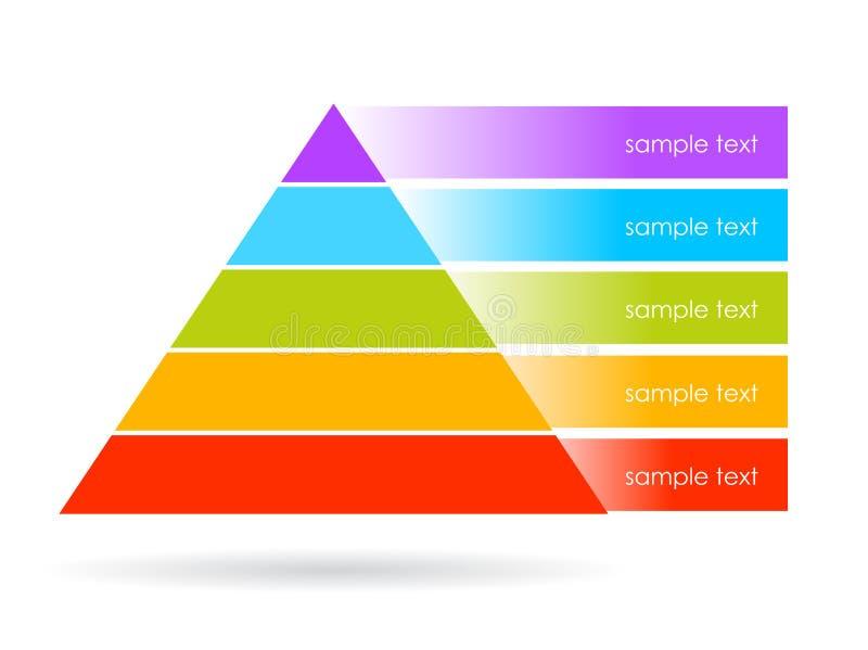 Vektorpyramiddiagram royaltyfri illustrationer