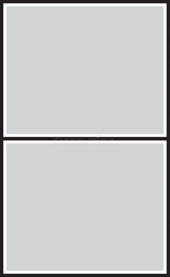 Vektorram för foto och bilder, fotocollage, fotopussel arkivbilder