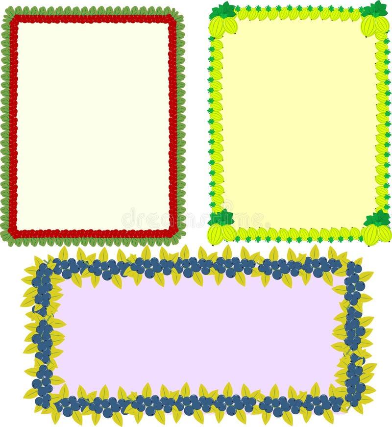 Vektorram i uppsättningen royaltyfri illustrationer