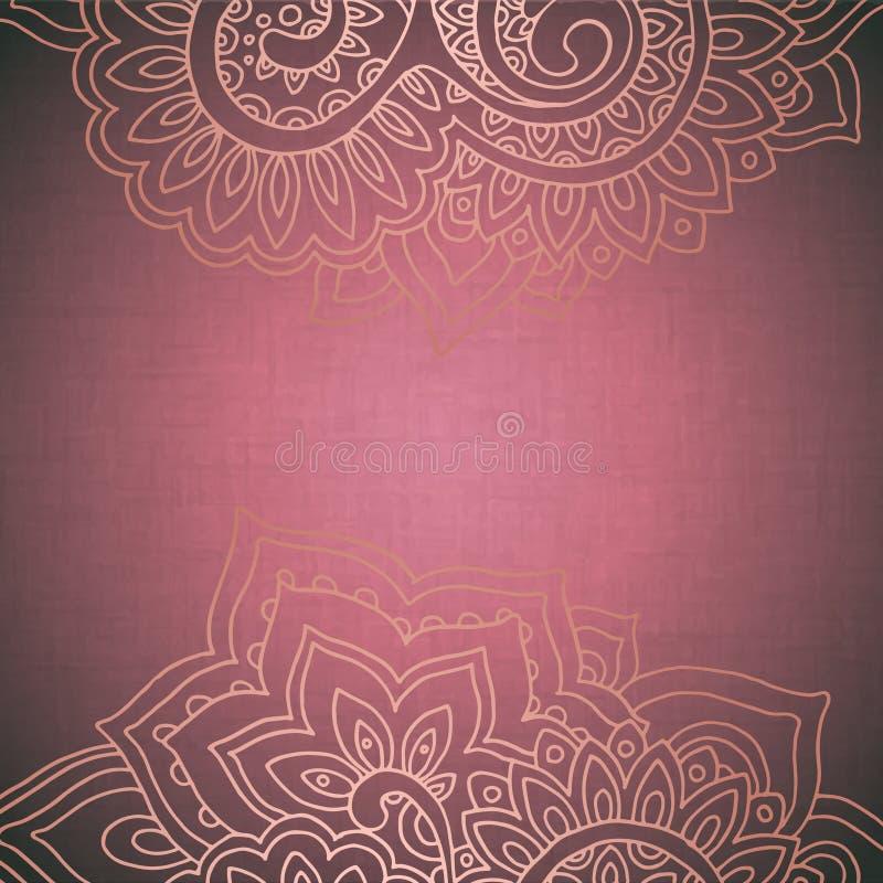 Vektorrammodell av den indiska blom- prydnaden stock illustrationer