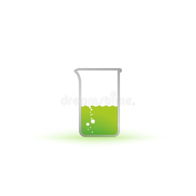 VektorReagenzglas mit Flüssigkeit vektor abbildung