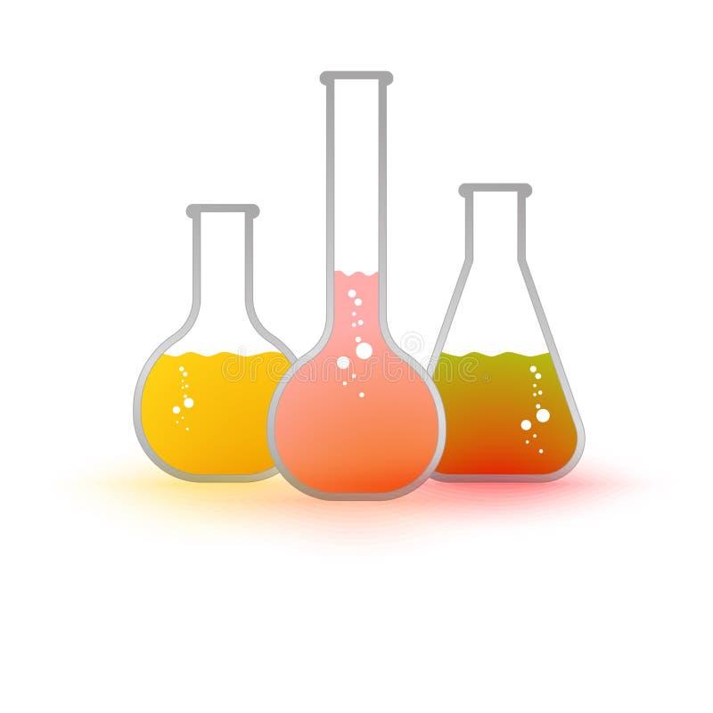 VektorReagenzglas mit Flüssigkeit stock abbildung
