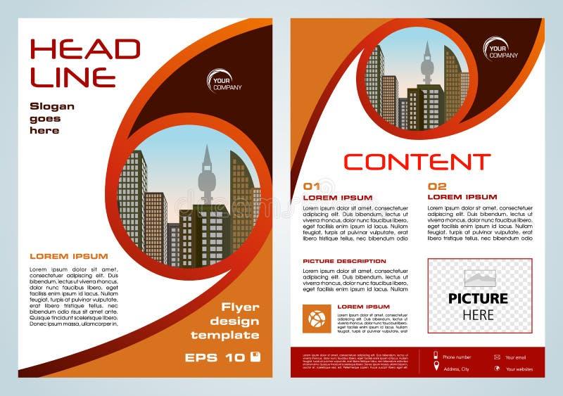 Vektorreklamblad, företags affär, årsrapport, broschyrdesign vektor illustrationer