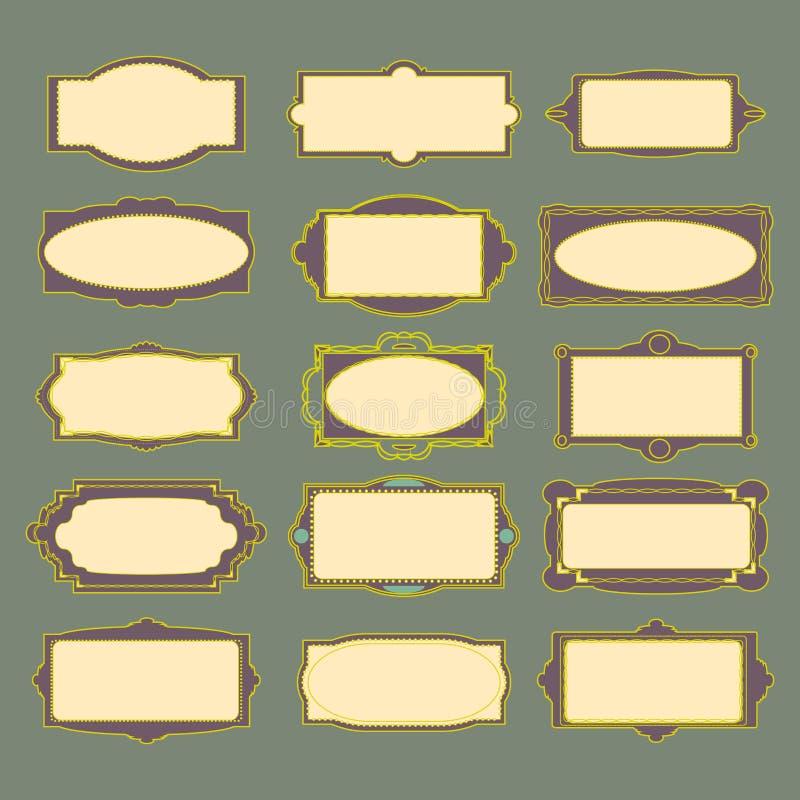 VektorRetro- Feld stockfotografie